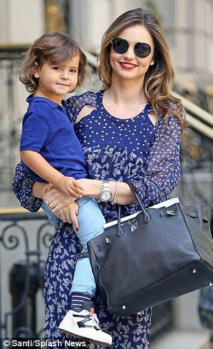 Miranda Kerr insists she and Orlando Bloom are on great terms for son Flynn | Daily Mail Online