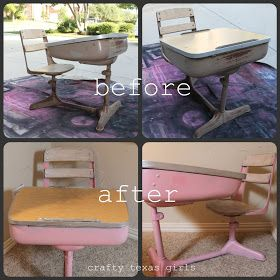 Antique school desk redo - I need to find one of these!