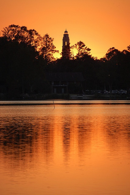 Sunset at the #LSU lakes in Baton Rouge, Louisiana #GoBR