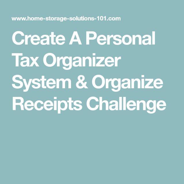 tax organizer template