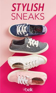 Jellypop sneakers are a must-have for your wardrobe this season. Cute and casual, they're ideal for pairing with all of your summer outfits, from sun dresses to your favorite pairs of shorts. Whether you're looking for classic black or navy blue lace-ups or a unique print, there's a pair of Jellypop shoes for every occasion. Shop Jellypop sneakers in store or online at Belk.com.