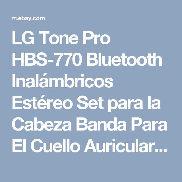 LG Tone Pro HBS-770 Bluetooth Inalámbricos Estéreo Set para la Cabeza Banda Para El Cuello Auriculares-Rojo 815425021345 | eBay