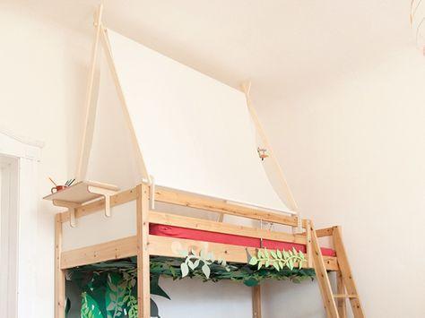 The 25+ best Hochbett bauen ideas on Pinterest | Mezzanine-Bett ... | {Kinderhochbett bauen 41}