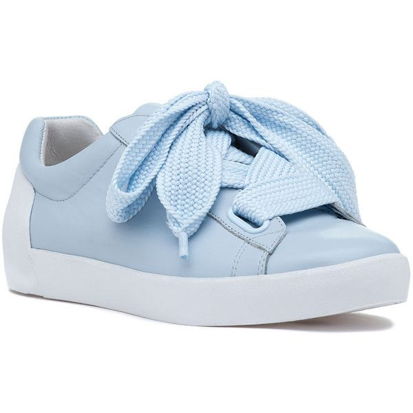 ASH Nina Lace Up Sneaker Ice Blue (610 PEN) ❤ liked on Polyvore featuring shoes, sneakers, ice blue, blue shoes, star shoes, ash trainers, lace up shoes and laced shoes