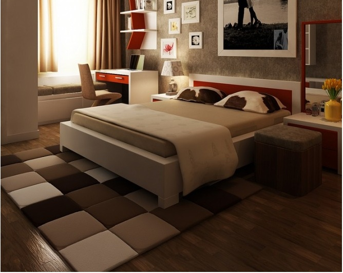 25 best Area rug at the foot of the Bed images on Pinterest ...