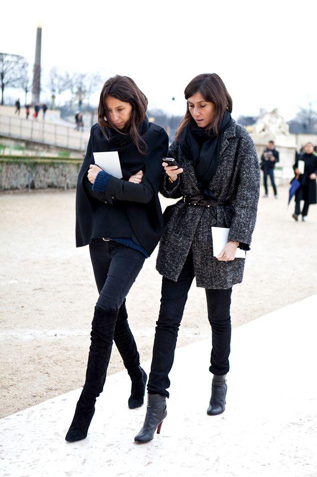 emmanuelle alt, geraldine saglio, paris fashion week