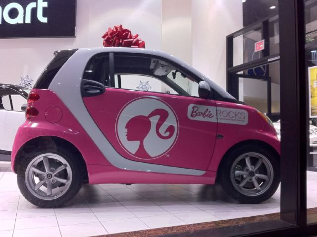 check out this barbie smart car mercedes benz of beverly hills beverly hills california. Black Bedroom Furniture Sets. Home Design Ideas