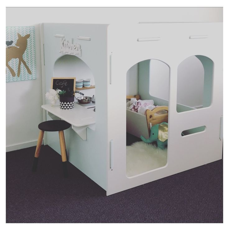 Gorgeous indoor cubby house, kids playroom, indoor playroom, wooden cubby house, princess cubby house