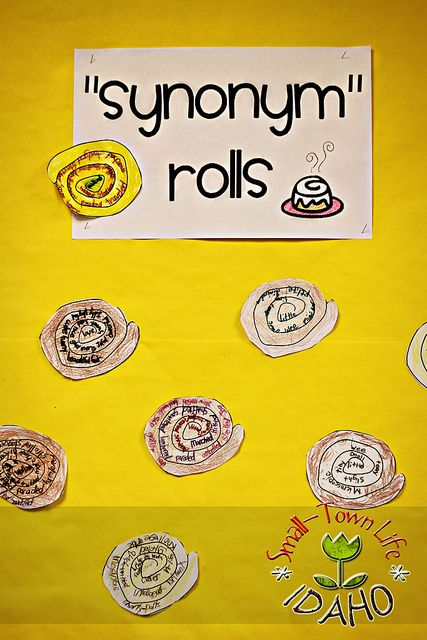 Synonym Rolls Tools - Scissors, paper, marker, and pens For school aged kids working on synonyms and new vocabulary words