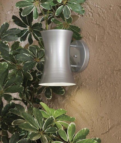 """The Great Outdoors 72142-609-PL Wall Bracket 1-26W GU24 Spiral CFL Silver by Minka. $109.90. The Great Outdoors 72142-609-PL 1 Wall Bracket in Silver Finish and Steel Shade 1-26W GU24 Spiral CFL 6 3/4""""W x 9 1/2""""H x 8 1/4""""Ext Steel Shade. Save 33% Off!"""