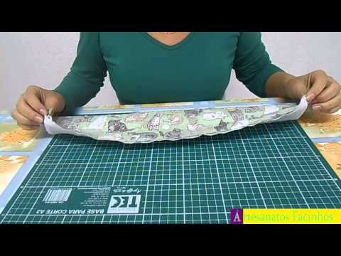 PANO DE PRATO COM BARRADO INGLÊS SEM PASSA FITA | Cantinho do Video