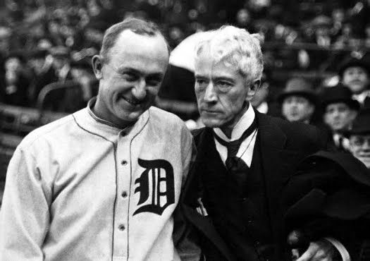 Ty Cobb and Mountain Landis, 1926.