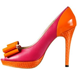 Orange and pink heels