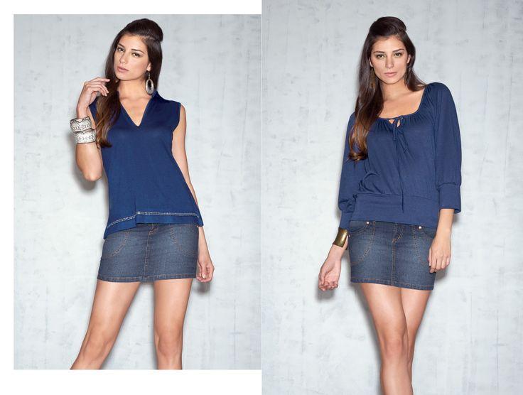 Combina nuestras blusas con la falda de Jean Indy.. ¡Te verás increíble en clima cálido!