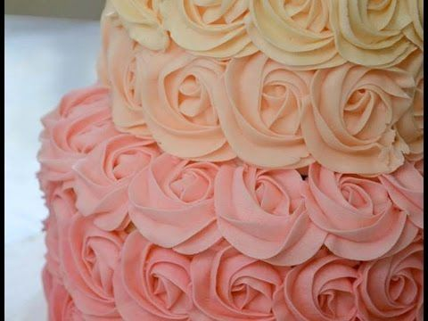 How To Make Easy Buttercream Rosettes : Cake Decorating For Beginners - YouTube