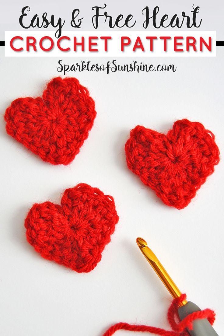 Easy Free Heart Crochet Pattern For Valentines Day Crochet