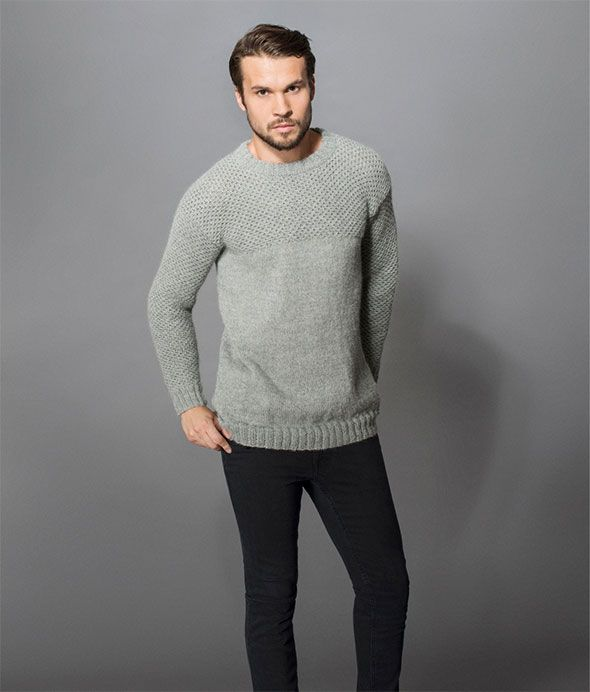 Grey sweater for man