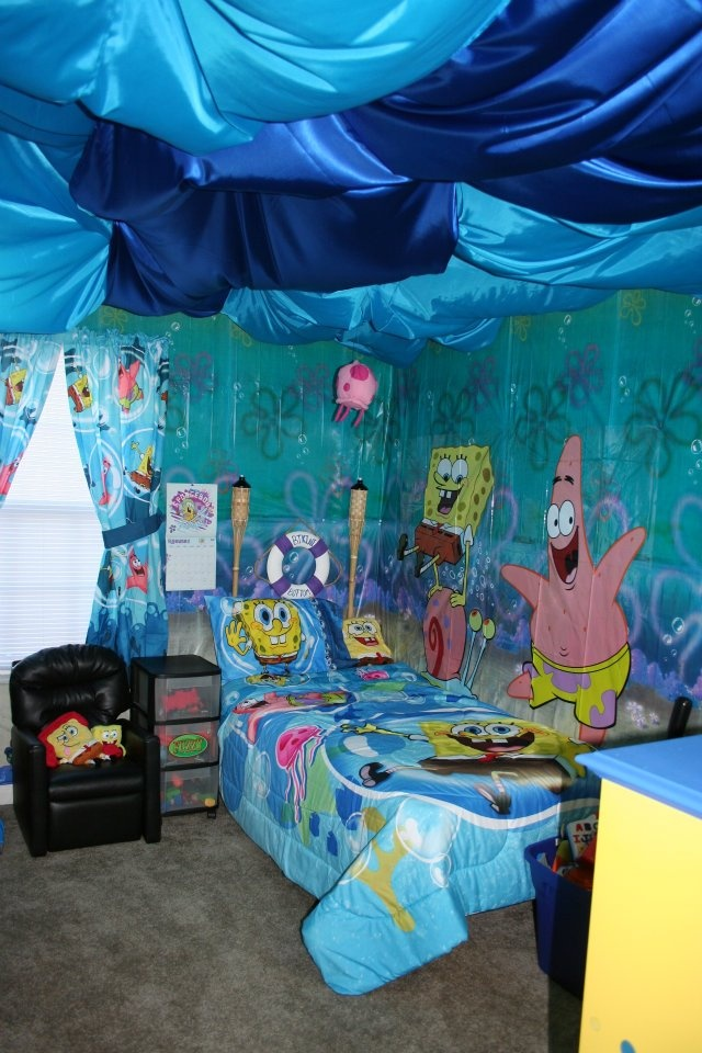 spongebob bedroom boy bedroom makeover pinterest