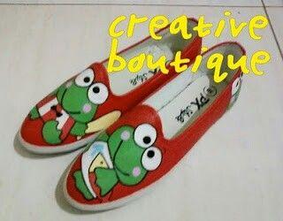 Painting shoes Keropi Only 125k-135k