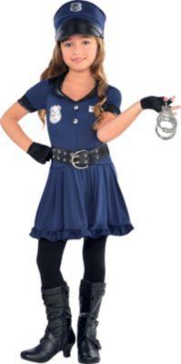 Toddler Girls Cop Costume