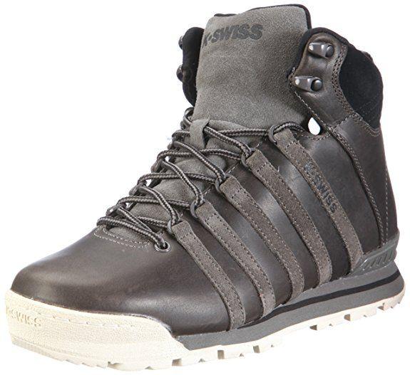 K-Swiss CLASSIC HIKER HIGH P 02762-088-M, Herren Boots, Grau (Carbon/Antique White/Black), EU 44.5 (UK 10)