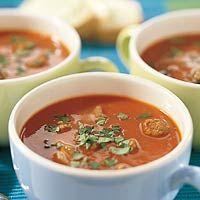 Recept - Tomatensoep met balletjes - Allerhande