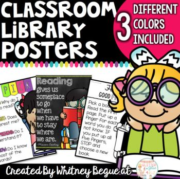 Overview:Looking for some new posters for your classroom library? This product includes 6 different posters in three different color combinations. It includes a neon and chalk theme, a neon and white  theme, and a black and white theme. See them all in the preview!!Please ask all questions before purchasing!