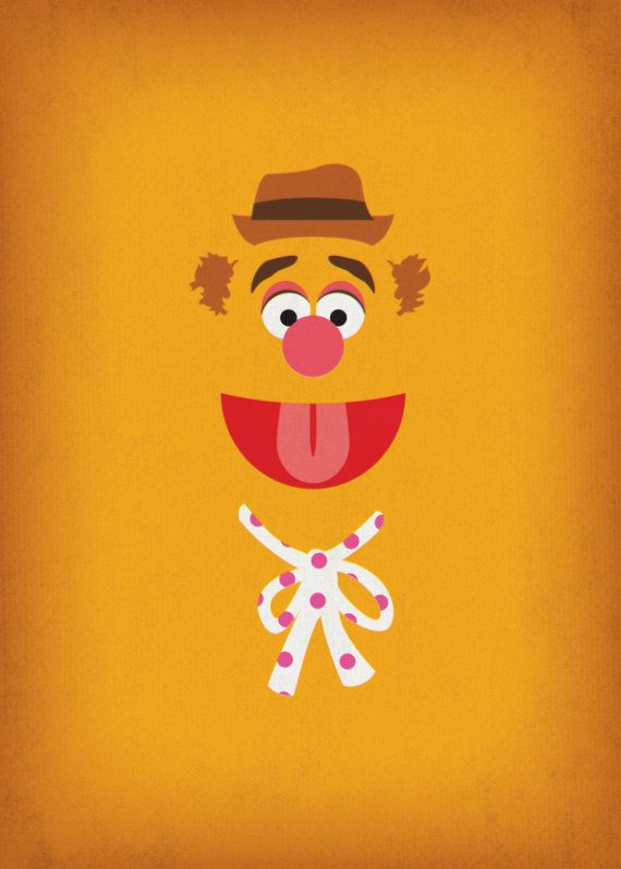 Nursery Decor Fozzie Bear Muppet Prints Digital by TheRetroInc