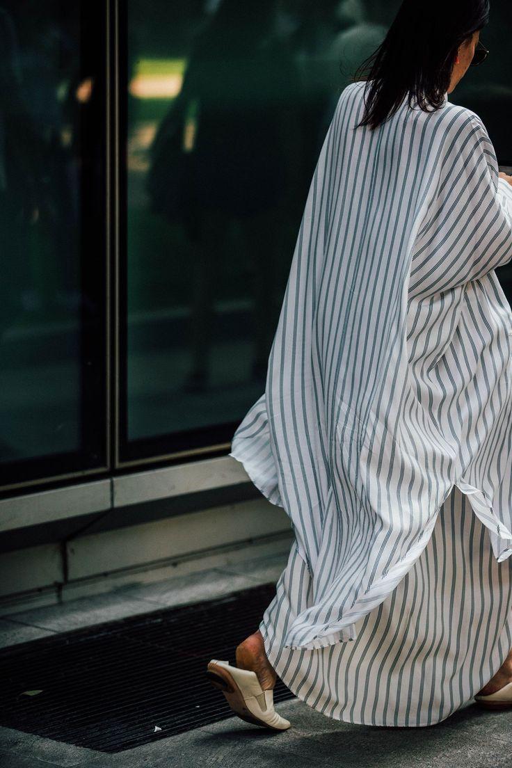 Stripes. Oversized everything. Milan Fashion Week Men's Street Style