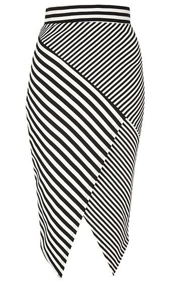 Olivia Palermo's #NYFW Pin Picks: Inspired by Altuzarra SS '15, try this striped skirt from Jane Norman.