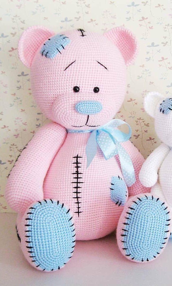 Free Teddy Bear crochet pattern - Amigurumi Today | 1080x650