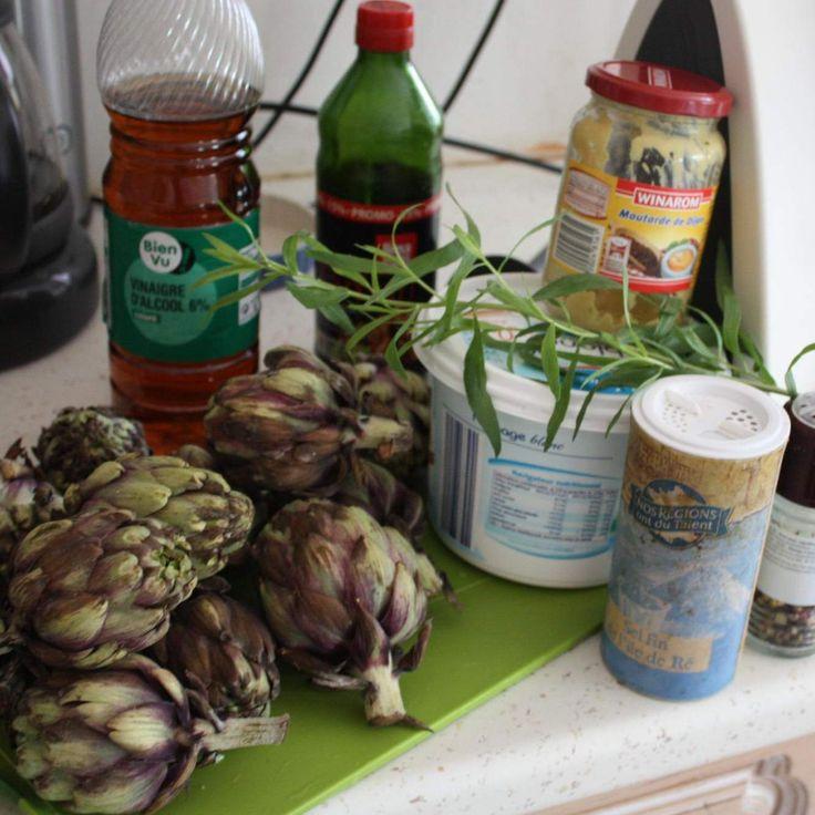 Recette Artichauts vapeur et sa sauce légère par Marina.S - recette de la catégorie Entrées