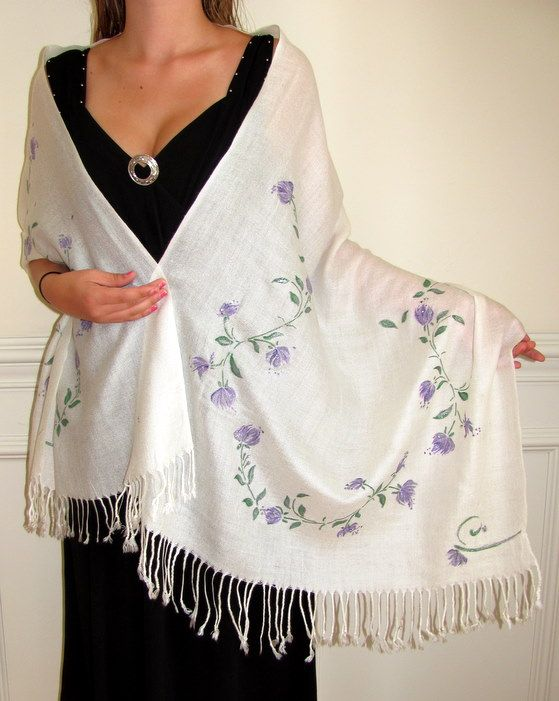 Beautiful warm cashmere pashmina shawls hand crafted for you $50.00 up.