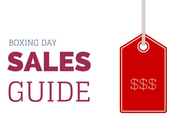 Boxing Day sales guide 2014 for fashion, beauty and lifestyle online shopping