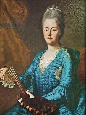 Maria Antonia Walpurgis Symphorosa (She was Electress of Saxony !!! ) Self Portrait in bruschwick dress. Maybe about 1770 ?