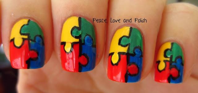 Peace, Love and Polish:  Autism Awareness #nail #nails #nailart