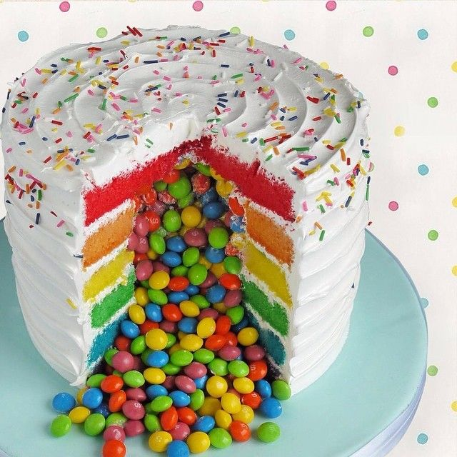 Rainbow Surprise Cake Recipe
