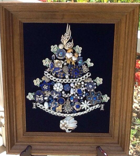 Vintage jewelry Christmas Tree on Etsy, $190.00