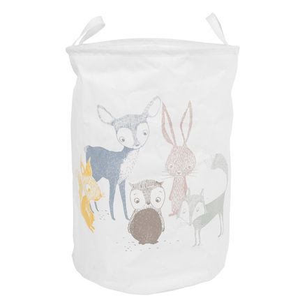 Forest Friends Nursery Laundry Basket or Storage Bin, Cotton Blend by Eightmood
