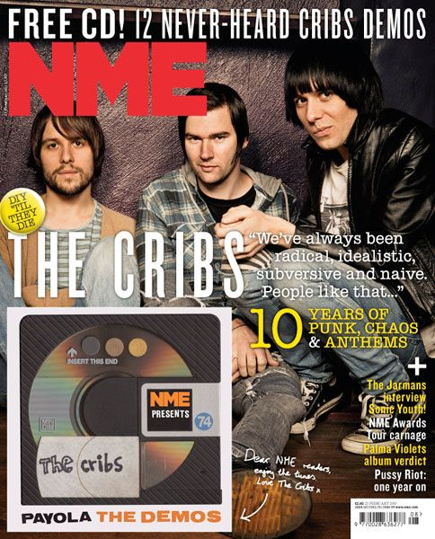 NME Magazine cover, The Cribs, February 23rd 2013