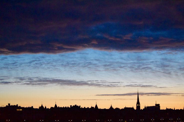 Strandvägen. Silhouettes of Stockholm at dawn. T.Paulzon