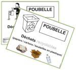 Affiches pour les poubelles (tri des déchets) Plus