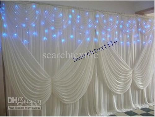 How to Backdrops for Weddings | Wedding Curtains - Buy /10ft*20ft/ White Wedding Backdrop/Wedding ...