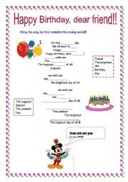Happy Birthday Song For Kids Fb