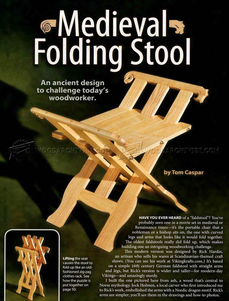 # 731 Средневековые планы складной стул - Мебель планы