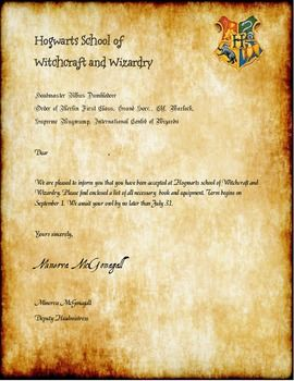 This is an image of Candid Harry Potter Acceptance Letter Printable