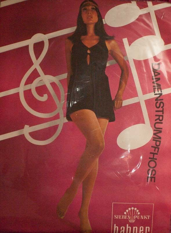 Seventies Vintage Bahner Sheer Tights for Hotpants