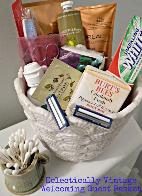 Be Guest Ready - Fill Pretty Container with Bathroom Essentials - Plus Scrub Recipe