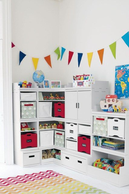 The bunting could be painted onto the bedroom / playroom walls. Cd use paints to match the spare room curtains