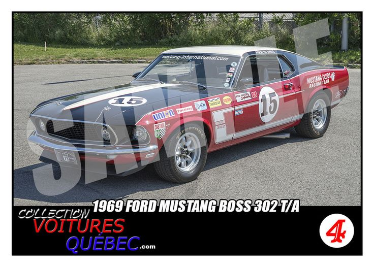 1969 Mustang Boss 302 Trading Card - SCCA Racing - Trans Am - Parnelli Jones | eBay